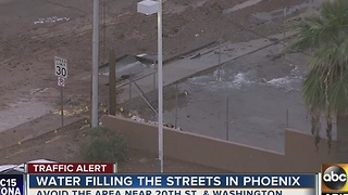 Water main break closes down several Phoenix roadways - Video