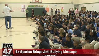 Ex-Spartan brings anti-bullying message to mid-Michigan - Video