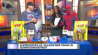Superheroes vs. Villains bar crawl - Video
