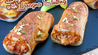 How to make a baguette with lasagna stuffing  - Video