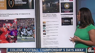 National Championship game held in Tampa - Video
