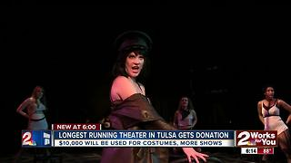 Longest running theater in Tulsa gets donation - Video