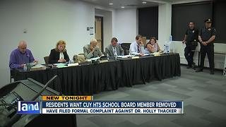 Cuyahoga Heights residents file complaint, want Holly Thacker removed from school board - Video