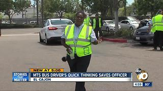 MTS bus driver's quick thinking saves officer - Video
