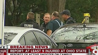 Ohio State shooter: At least 9 transported after active shooter incident at Ohio State University - Video