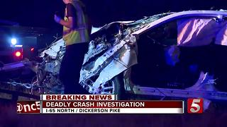1 Killed, 2 Injured In I-65 Crash In Nashville - Video