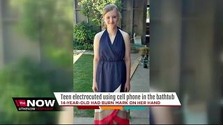 Teen electrocuted after cell phone accidentally falls in bathtub - Video