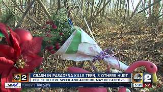 Police ID teen killed, others hurt in Pasadena crash - Video