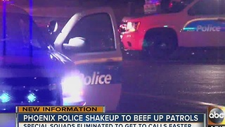 170 Phoenix police officers to patrol streets, stop specialty work - Video