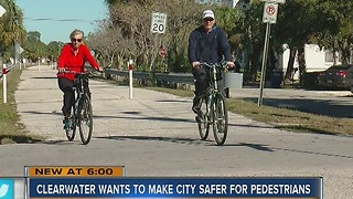 Clearwater designing creative project to address pedestrian safety - Video