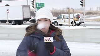 Reporter Gets Snowball To Face Minutes Before Going LIVE! - Video