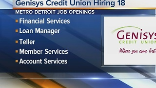 Workers Wanted: Genisys Credit Union is hiring - Video