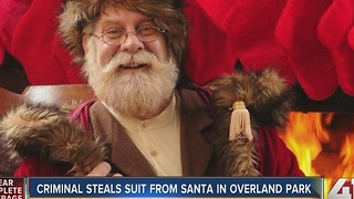 Criminal steals suit from Santa in Overland Park - Video