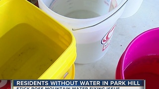 Several resdients in Park Hill without running water.