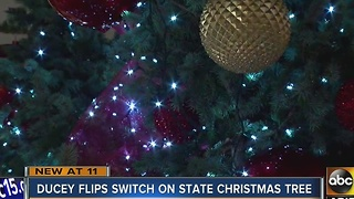 Governor lights annual state Christmas tree - Video