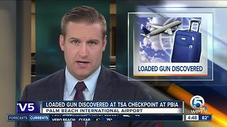 Loaded gun found by at PBIA - Video