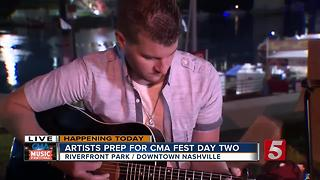 Justin Fabus Performs On Day 2 Of CMA Fest - Video