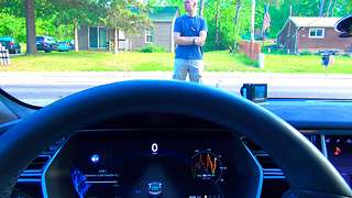 Tesla Model S human collision avoidance test - Video