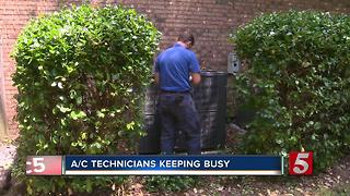 A/C Technicians Busy As Heat Wave Continues
