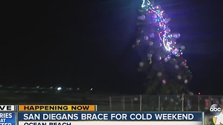 San Diegans brace for cold weekend - Video