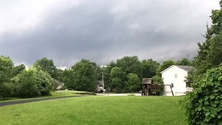 Timelapse Captures Ominous Rotating Wall Cloud Over Wappingers Falls - Video