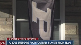 Purdue suspends four football players from team over sexual assault charges - Video