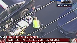 Suspect in custody after chase