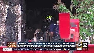 One dead in Southeast Baltimore house fire - Video