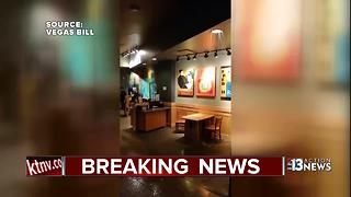 Fire pipe leak at Planet Hollywood - Video