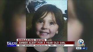 Florida Amber Alert issued for missing 4-year-old girl