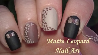 Matte Leopard Nail Art In Black & Brown - Video