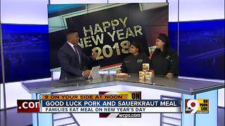 Good luck pork and sauerkraut meal - Video