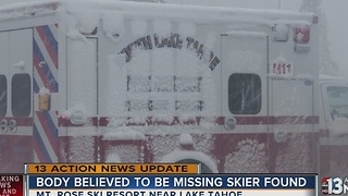 Body of missing skier found