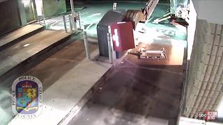 Man tries to break into ATM using stolen backhoe - Video