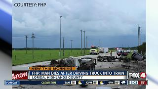 FHP investigating truck crash into train