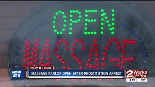 Massage parlor open after prostituion bust - Video