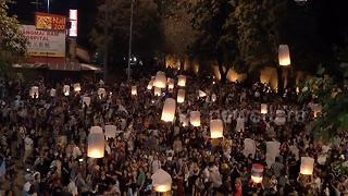 Chiang Mai marks new year with flying lantern festival - Video