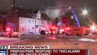 Two alarm house fire breaks out early Monday morning - Video