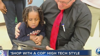 Shop with a cop - high tech style - Video