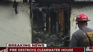Fire destroys Clearwater house, officials investigating - Video