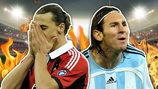 Top 10 Worst Football Debuts | Messi, Zlatan & Woodgate! - Video