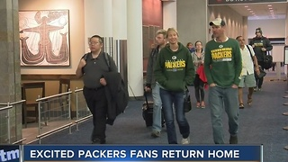 Excited Packers fans return home after Sunday's game - Video