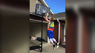Epic Slow Motion Dunk Fail - Video