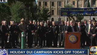 Holiday DUI campaign kicks off today in the Valley - Video