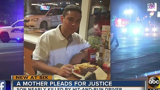 A mother pleads for justice after her son nearly killed - Video