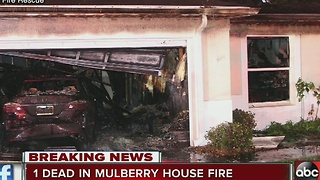 1 dead in Mulberry house fire - Video