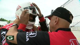 Brett Hundley goes racing - Video