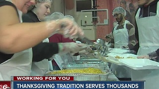 Thanksgiving tradition serves thousands in central Indiana - Video
