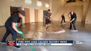 Leak leads to massive flooding in Planet Hollywood casino - Video