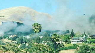 Brush Fire in San Jose Destroys 2 Homes - Video
